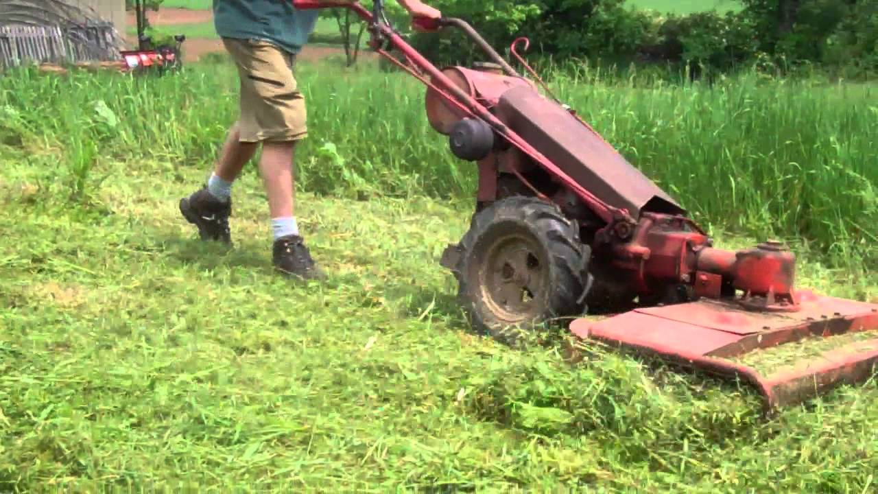 Gravely Mowing Very High Grass Tall Weeds