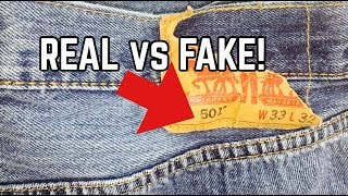 LEVI'S JEANS   REAL VS FAKE   HOW TO SPOT FAKE LEVI'S JEANS!