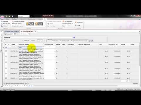 neodata 2012 precios unitarios  tutorial en español : 1 introduccion