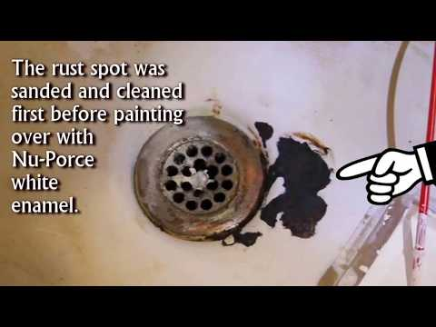 Fix Rust Spot Chipped Bathtub & Sink with simple store bought product