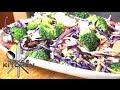 Chopped Broccoli Salad with Tahini Dressing - Vide…