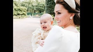 Kate's look of love for Prince Louis: Official pictures show Duchess besotted