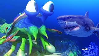Download Lagu GIANT MANTIS SHRIMP vs GREAT WHITE SHARK - Feed and Grow Fish - Part 35 | Pungence Gratis STAFABAND