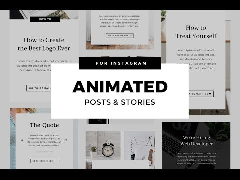 How to create animated Instagram Stories & Posts