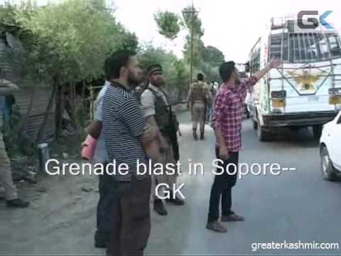 People Run For Cover After Grenade Attack In Sopore