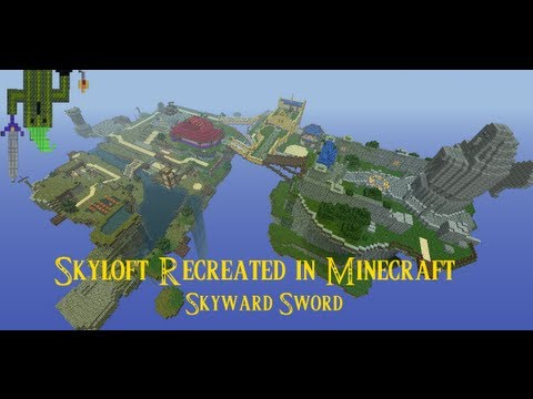 Skyloft Recreated in Minecraft (LoZ: Skyward Sword)