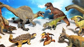 My Dinosaur Toys Collection for kids PAPO - Tyrannosaurus Spinosaurus Carnotaurus