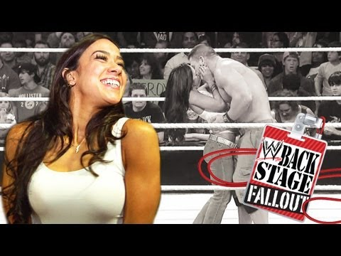 "AJ kisses ... and tells - ""Backstage Fallout"" Raw - November 26, 2012"