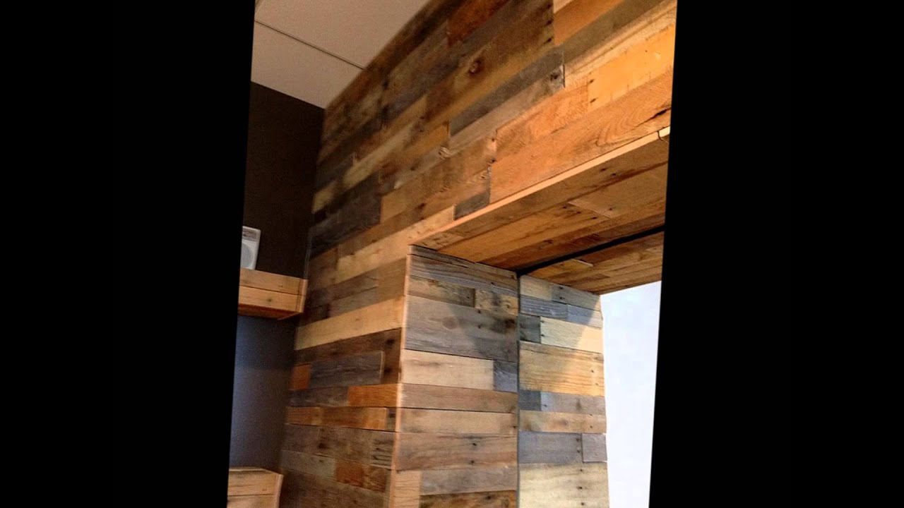 Pallet Wood Wall Panels Youtube