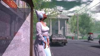 SecondLife - Waiting for bus