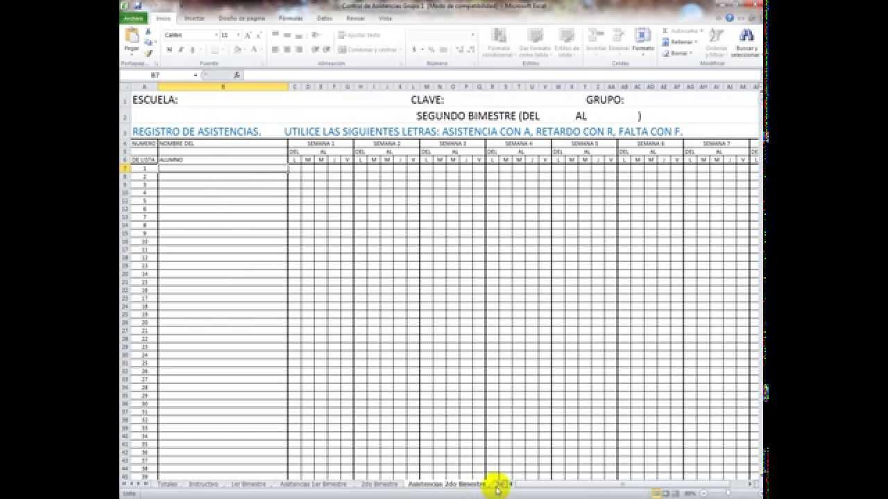 Listas de asistencia y evaluacion para primaria preescolar for Hojas de nominas para rellenar