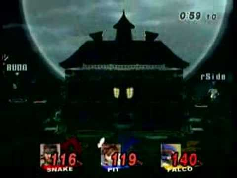 Super Smash Brothers Brawl Online Snake VS Falco VS Pit
