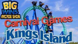 Carnival Games at Kings Island - Big Wins! Arcade Show