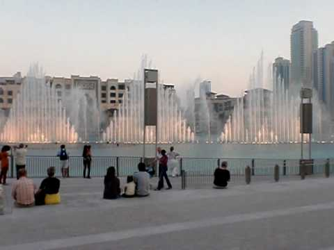 Burj Dubai Khalifa Fountain Time to Say Goodbye At Day
