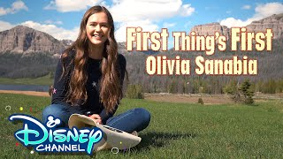 First Things First Challenge with Olivia Sanabia! | Coop & Cami Ask the World | Disney Channel