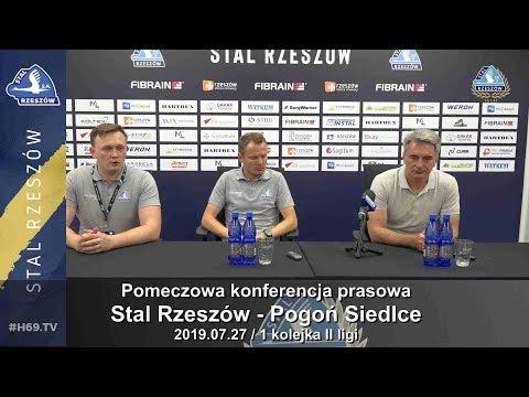 #H69.TV |KONFERENCJA| Stal Rzeszów - Pogoń Siedlce 27 lipca |2019.07.27|
