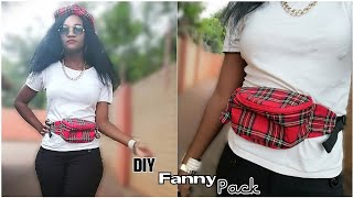 How to Sew a Fanny Pack without Pattern| Pouch Bag