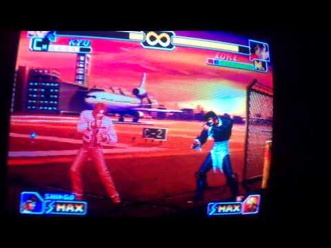 Jugando Kof 99 En La PS1 Con La Television Antigua De Sansumg