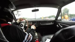 65 mustang turbo  vs gto on spray head to head drag racing island dragway
