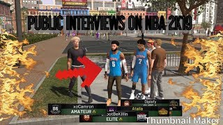 PUBLIC INTERVIEWS ON NBA2K19 AND SQUEAKER PRESS SESSION
