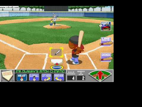 backyard baseball 2001 batting practice youtube