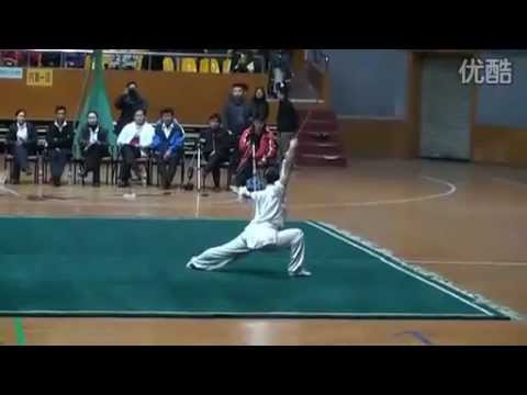China Traditional Wushu Nationals / Shuang Jian - Ye Zhu Qiang (Zhejiang)