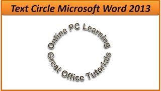 Create Text Circle in Microsoft Word - Simple Steps