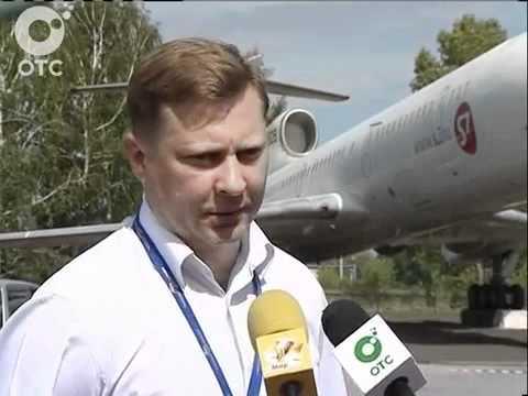 Самолёт-памятник Ту-154 в Новосибирске