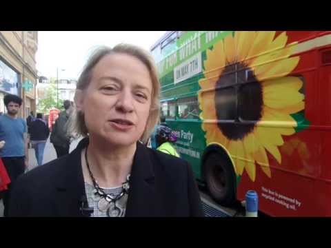 Natalie Bennett visits Cambridge to talk about climate change