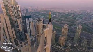 people are awesome 2016 - amazing stunts on a skyscraper's edge !!!!