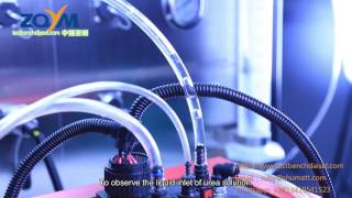 凯龙SCR Adblue DEF Urea Pump test bench from ZQYM  mp4