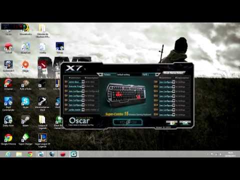 REVIEW - Teclado A4 Tech X7 G800V - Configuração de macros e teste de ghosting