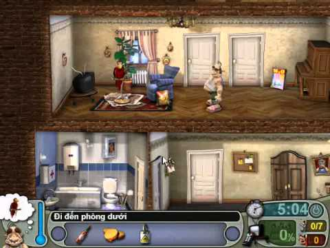 Neighbours From Hell 1 ( Người Hàng Xóm 1 ) - Màn 3 Tập 3 ( Game Việt Hóa )