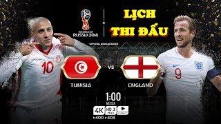 Lịch thi đấu World Cup 2018 HÔM NAY (18/6): SƯ TỬ Anh đấu Tunisia, Hàn Quốc đại chiến Thụy Điển