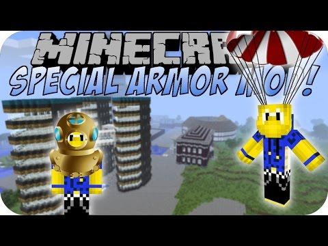 Minecraft SPECIAL ARMOR MOD (Jetpack. Glider. Fallschirm)