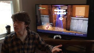 KID SHUTS OFF TV DURING SUPERBOWL TO PLAY FORTNITE AND FREAKS OUT WHEN HE LOSES!!!