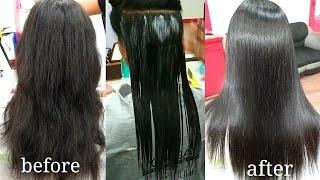 hair smoothening tutorial in Hindi (step by step)