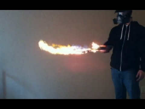 "Homemade Flaming Sword Torch Mod ""Shishkebab"""