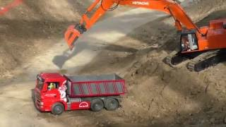 RC Truck Action! Construction SPECIAL @ Modellbaustelle Wachau/Austria 2016