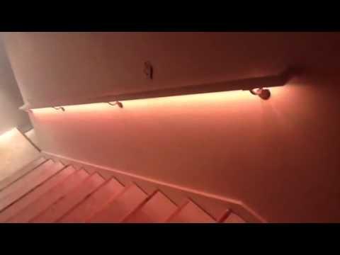 Cosmic Basement Handrail Stair Lighting Youtube