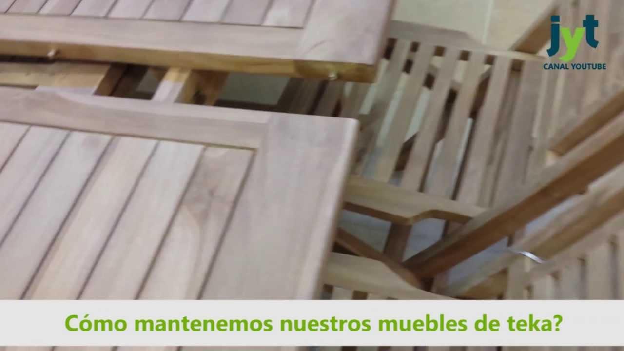 Muebles madera teca tienda online mueble jard n youtube - Muebles de teca ...