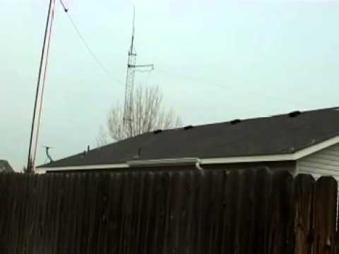 ham radio antenna in nampa idaho 2 meter j pole and high frequincy wires
