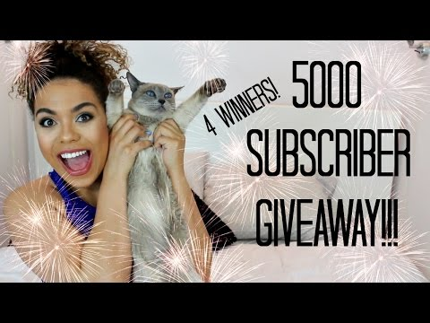 5000 Subscriber Makeup Forever Giveaway! 4 Winners!   samantha jane