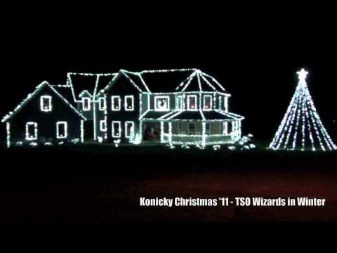 Konicky Christmas Lights 2011-Wizards in Winter Music Videos