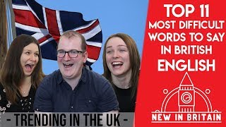 Hardest words in British English - Learning English for beginners - Emma Blackery twin