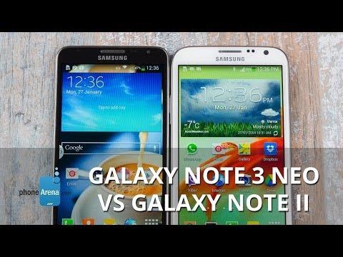 Samsung Galaxy Note 3 Neo vs Samsung Galaxy Note II
