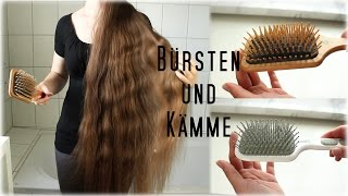 Alle meine Haarbürsten | how I brush my kneelong hair | engl subs now