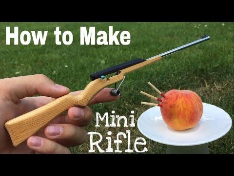 How to Make a Mini Rifle that Shoots - Matchstick Gun