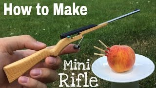 How to Make a Mini Rifle that Shoots - Matchstick Gun