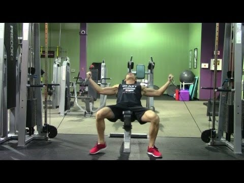 Incline Cable Fly - HASfit Upper Chest Exercise Demonstration - Chest Fly - Cable Flys Pectoral Fly